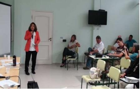 Figura 8. Manifestação da Sra. Cristiane Mariano, representante da comunidade Sítio Cachoeira.
