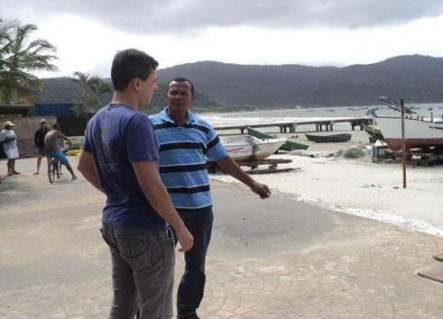 Figura 5. Entrevistas com lideranças locais na região da Serra do Guararu.
