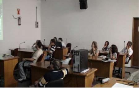 Figura 1. Apresentação dos estudos e proposta aos membros do COMDEMA e demais presentes na plateia.