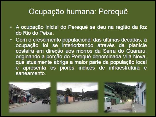 Ocupação humana: Perequê