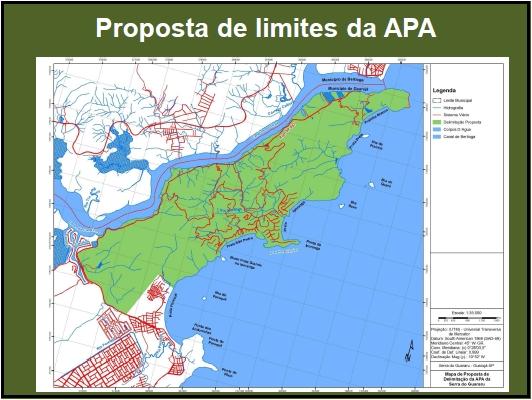 Proposta de limites da APA
