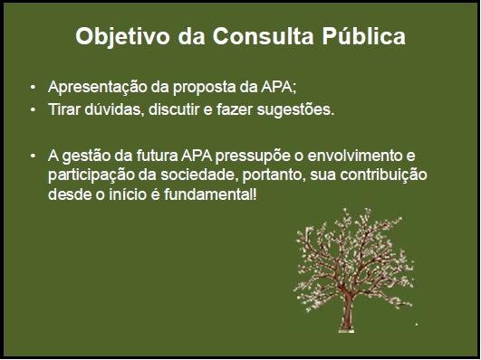 Objetivo da Consulta Pública