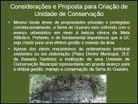 Considerações e Proposta para Criação de Unidade de Conservação