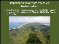 Importância para conservação da biodiversidade