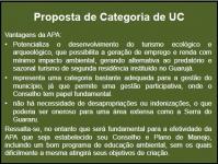 Proposta de Categoria de UC